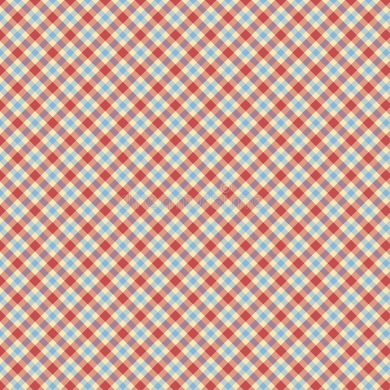 Blue and red tartan check repeat wallpaper pattern. Blue and red check repeating wallpaper pattern royalty free stock photography