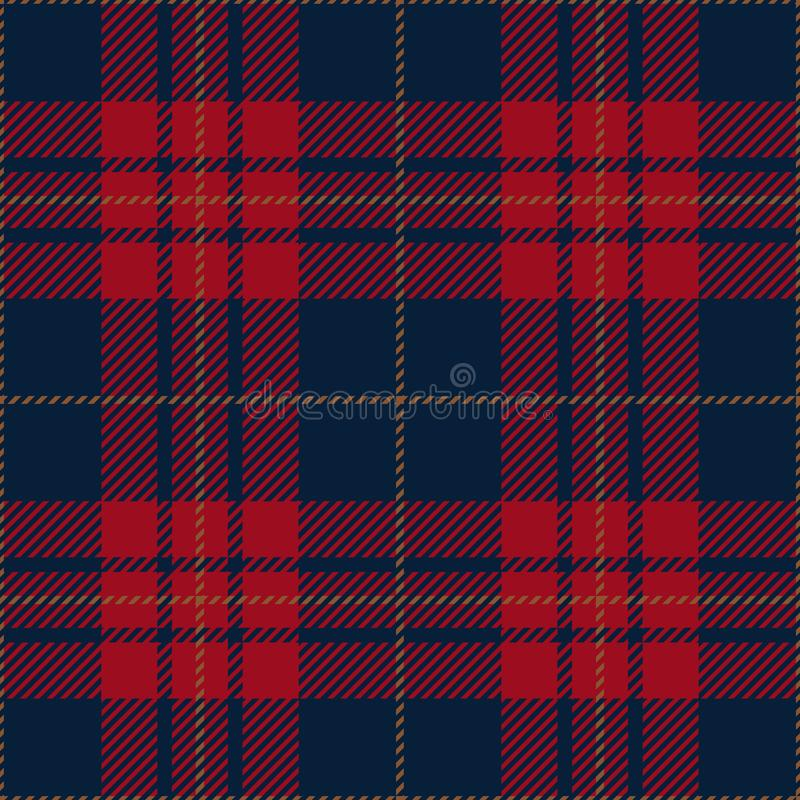Blue And Red Tartan Plaid Traditional Scottish Textile Pattern stock image