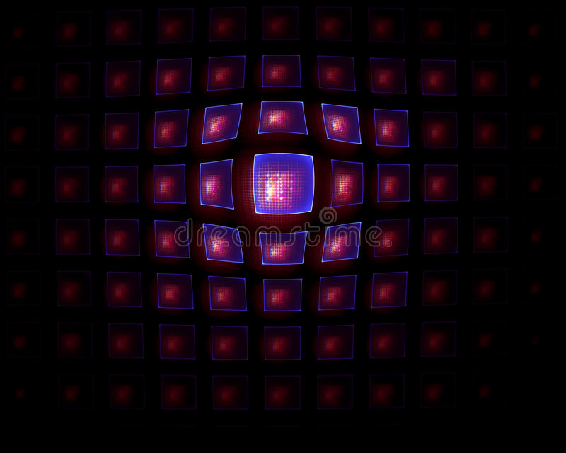 Download Blue And Red  Tiles  And Net  Background Stock Illustration - Image: 8708976