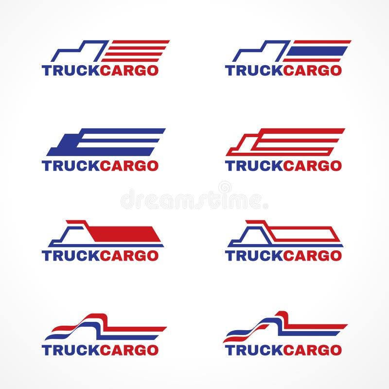 Blue red truck cargo logo vector design vector illustration