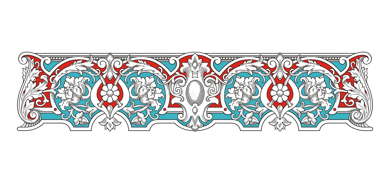 Blue and Red Vintage Frame vector 1005 vector illustration