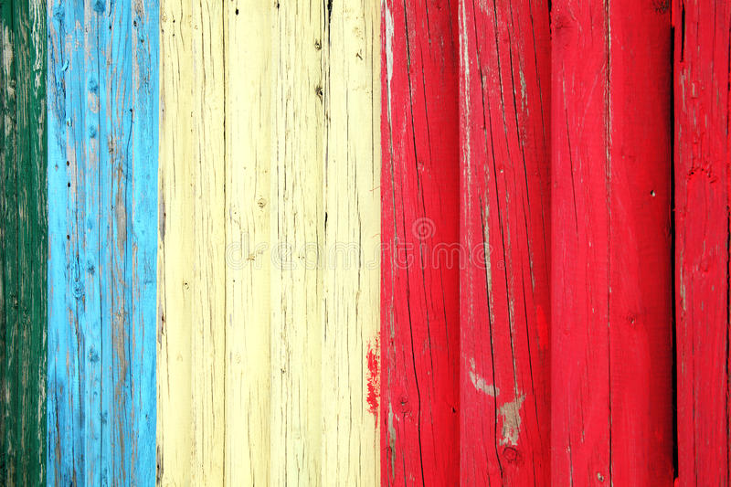 Blue red and white weathered plank posst background royalty free stock images