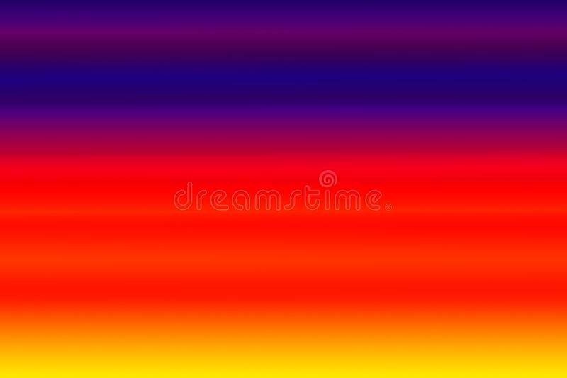 Blue red and yellow color with abstract gradient horizontal background, multi colors mixed gradient background royalty free illustration