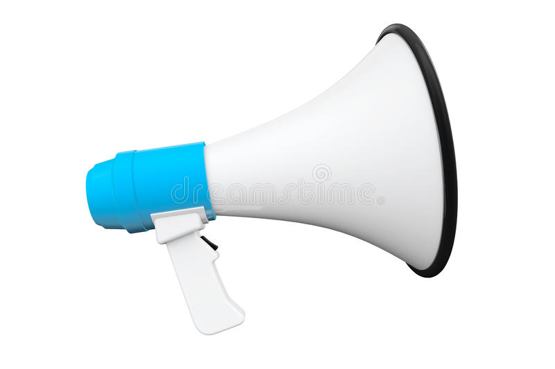 Download Blue Retro megaphone stock illustration. Image of audio - 29822841