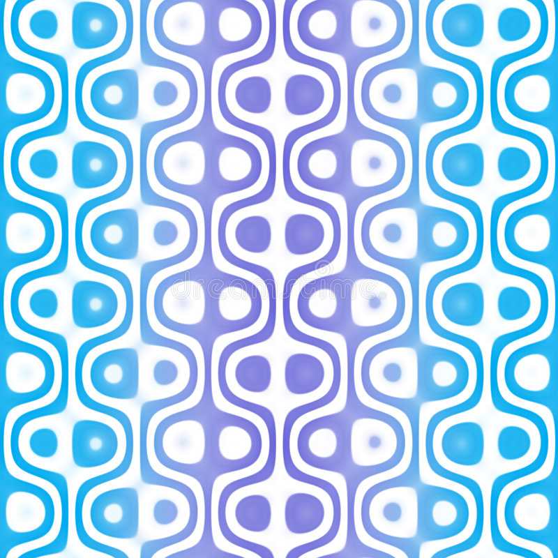 Blue Retro Pattern royalty free illustration