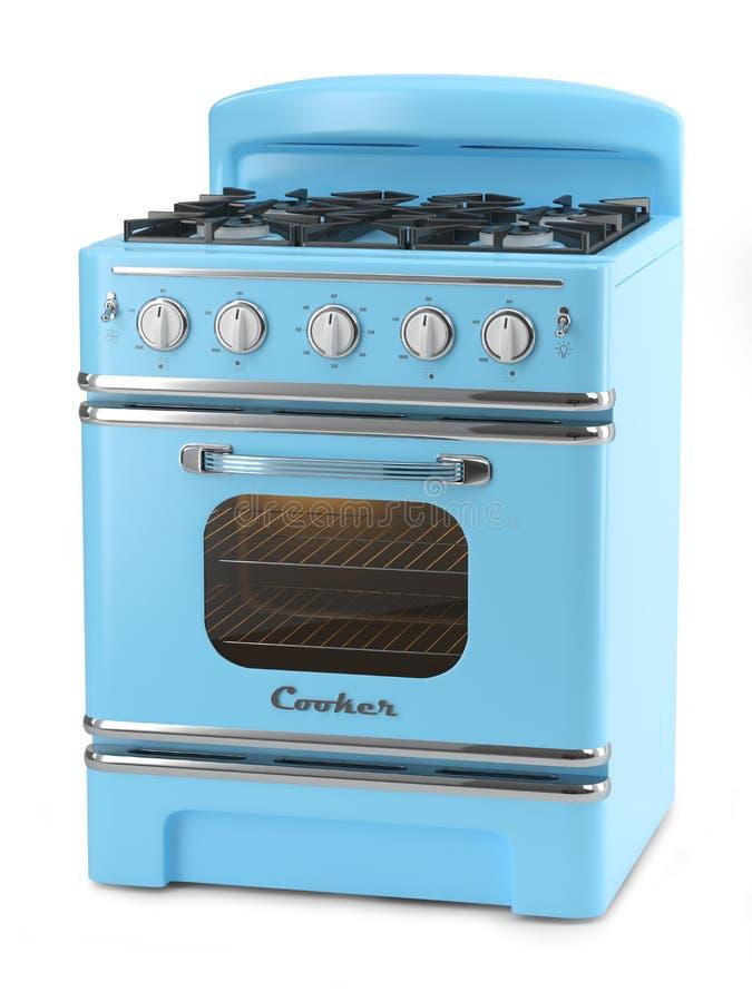 blue retro stove stock illustration image 42134083