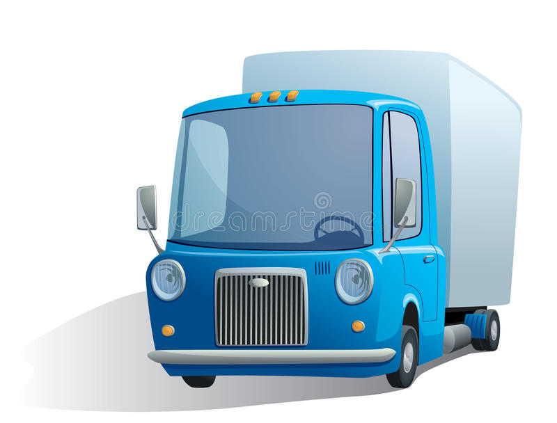 Blue retro truck. Illustration of a blue retro truck stock illustration