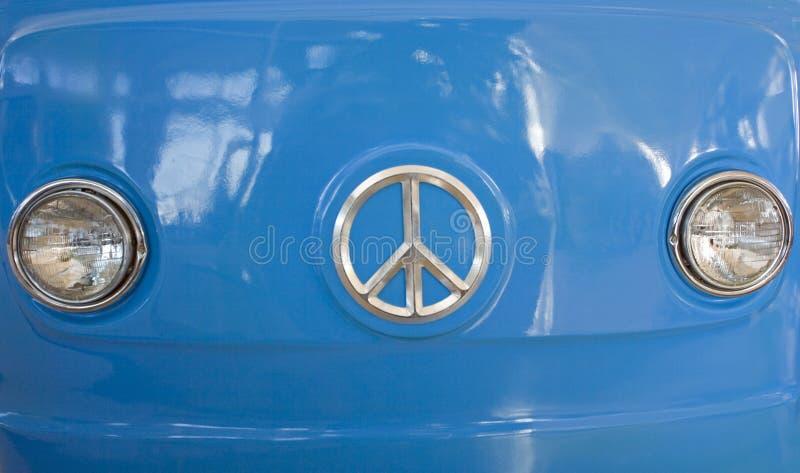 Blue Retro Van stock photos