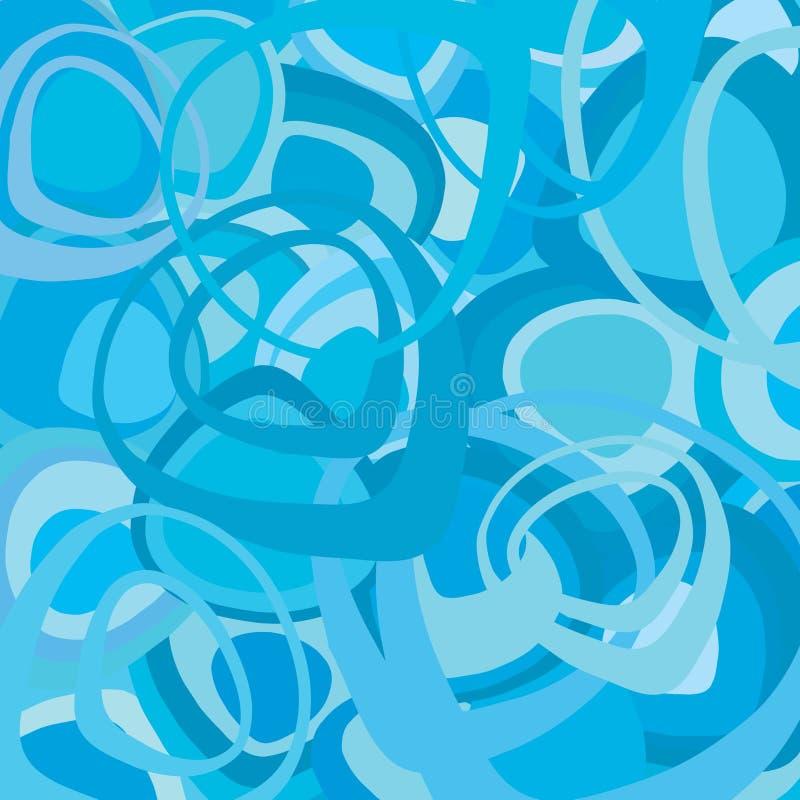 Download Blue Retro Wallpaper Vector Stock