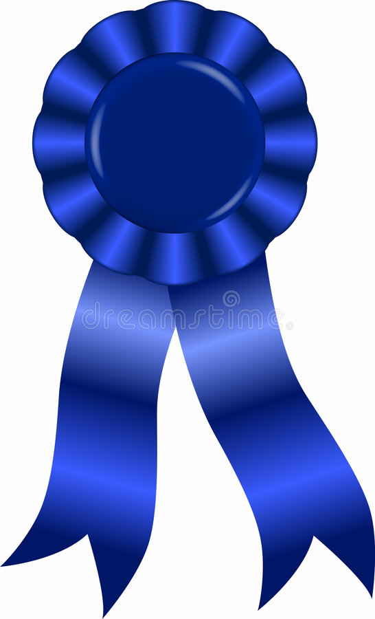 Blue_ribbon Royalty Free Stock Images
