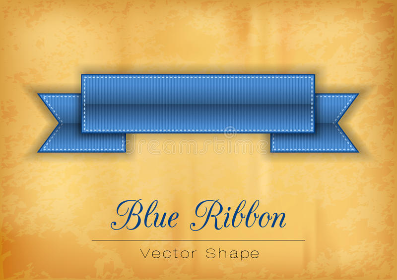 Blue Ribbon ilustración del vector