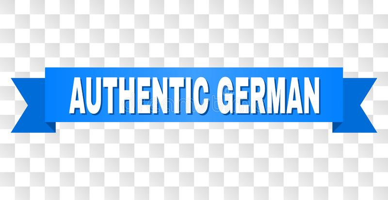 Blue Ribbon with AUTHENTIC GERMAN Caption vector illustration
