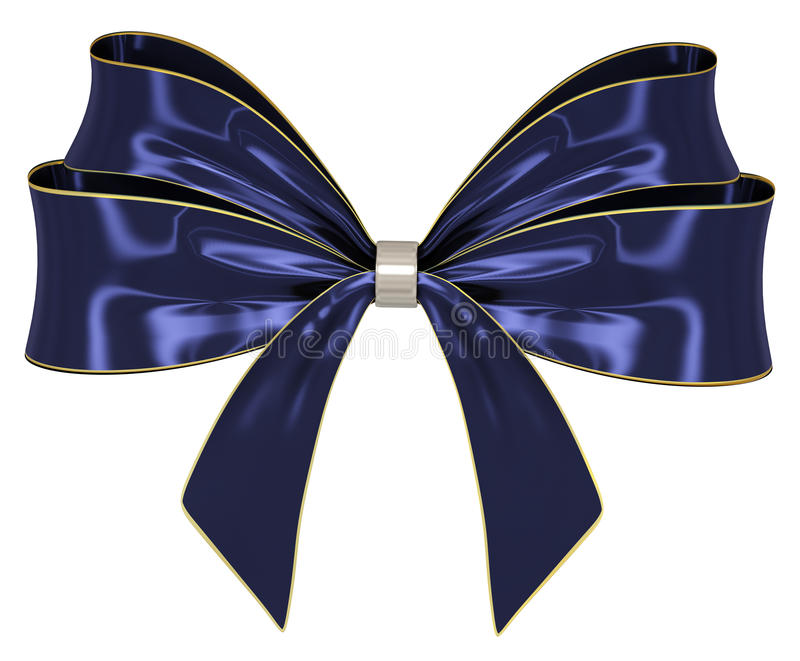 Download Blue Ribbon Bow 3d Render Royalty Free Stock Photo - Image: 17227845