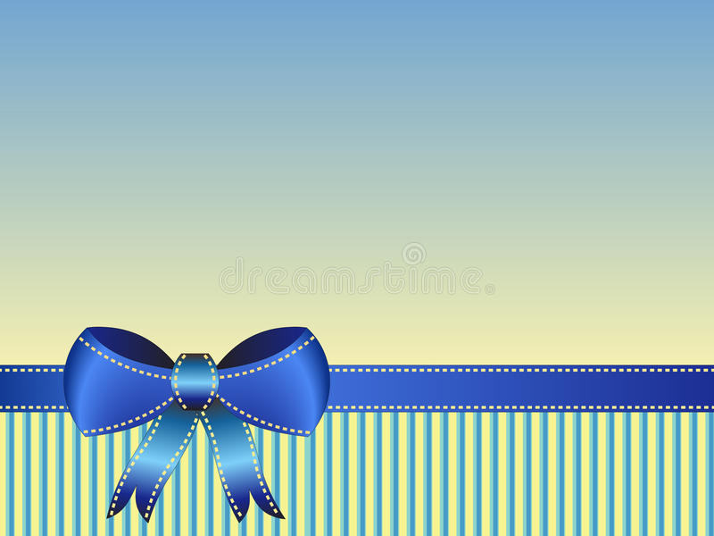 Blue ribbon card royalty free stock image