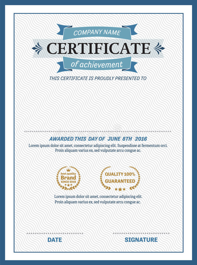 Blue ribbon certificate diploma template vector illustration stock download blue ribbon certificate diploma template vector illustration stock vector image 73315452 yadclub Choice Image