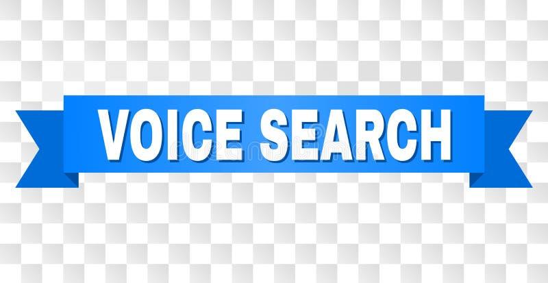 Blue Ribbon con el texto de VOICE SEARCH libre illustration