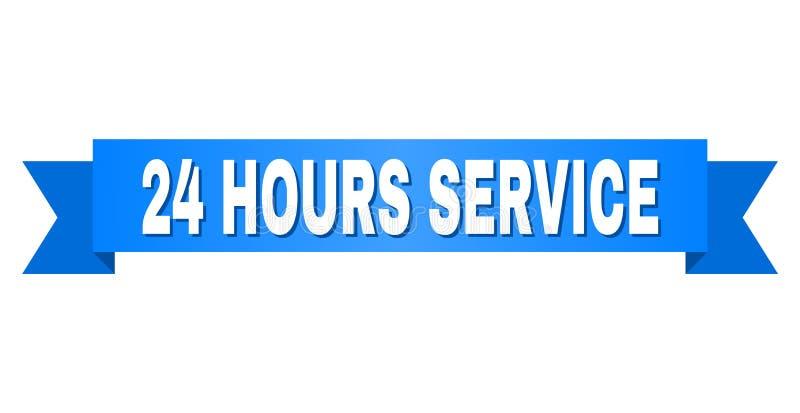 Blue Ribbon con 24 HORAS de título del SERVICIO libre illustration