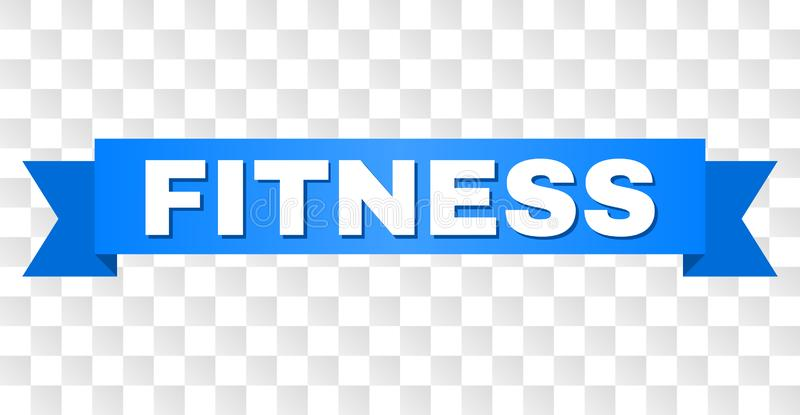 Blue Ribbon with FITNESS Text royalty free illustration