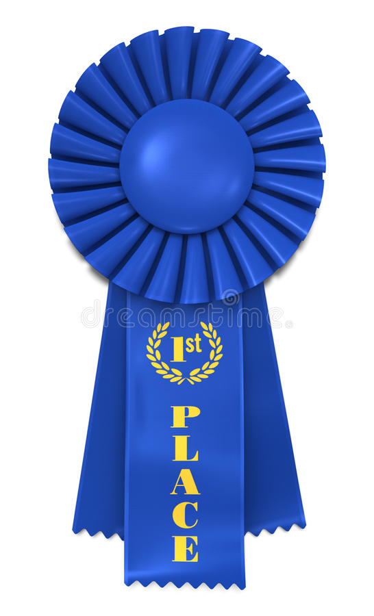 Free Blue Ribbon For First Place Royalty Free Stock Photo - 10708795