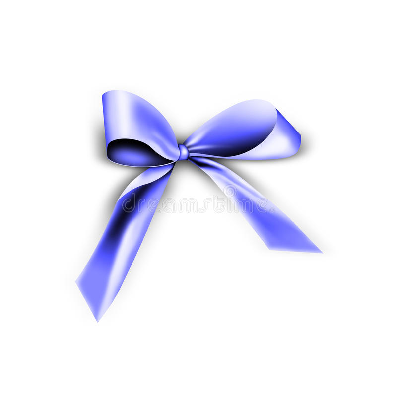 Download Blue ribbon with knot stock illustration. Illustration of color - 17048730