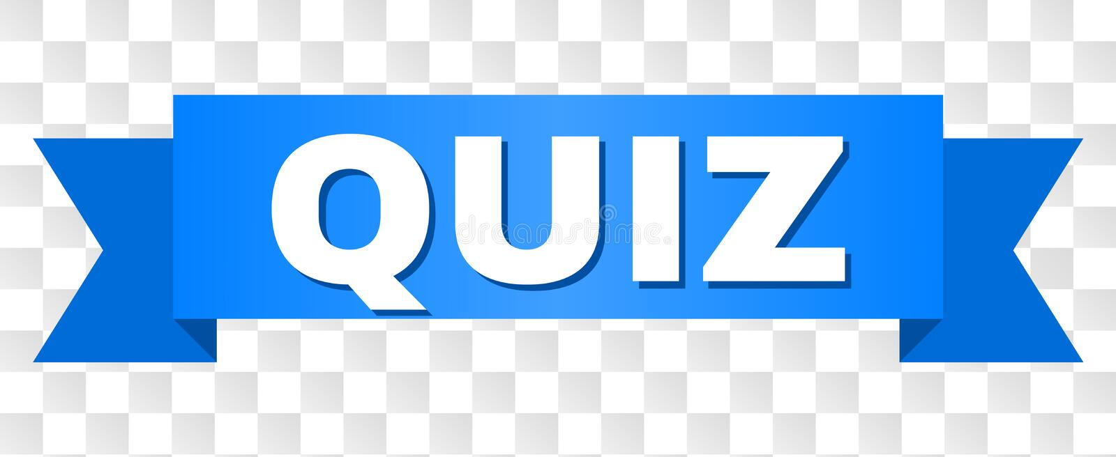 Blue Ribbon with QUIZ Title vector illustration