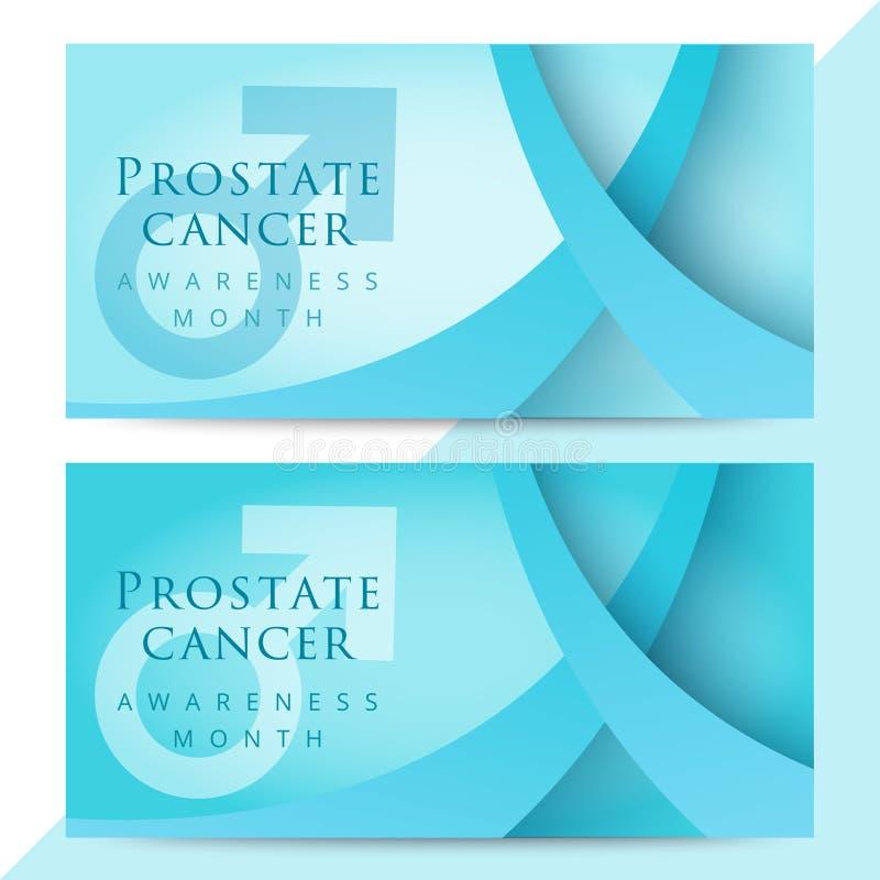 Blue Ribbon Symbol For World Prostate Cancer Awareness Stock Vector