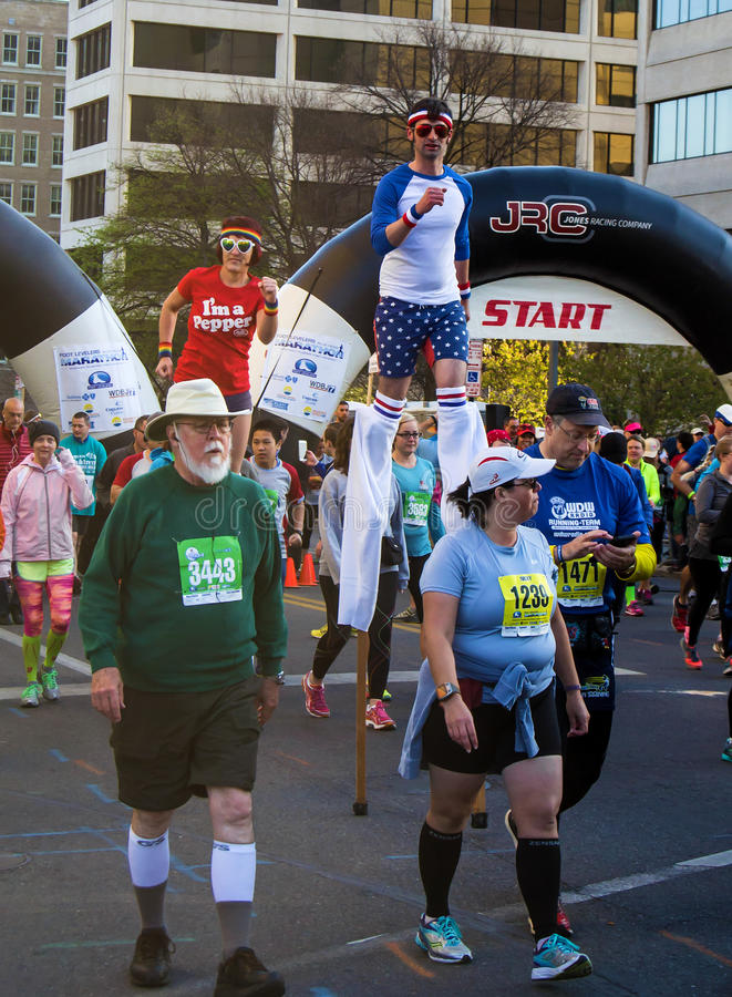 Blue Ridge Marathon – Roanoke, Virginia, USA royalty free stock photos