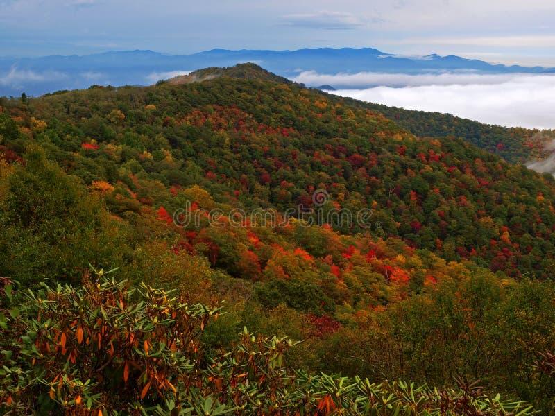Blue ridge mountains in autumn royalty free stock photo