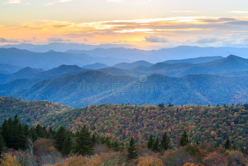 Blue Ridge Mountains Autumn Landscape NC stock photography