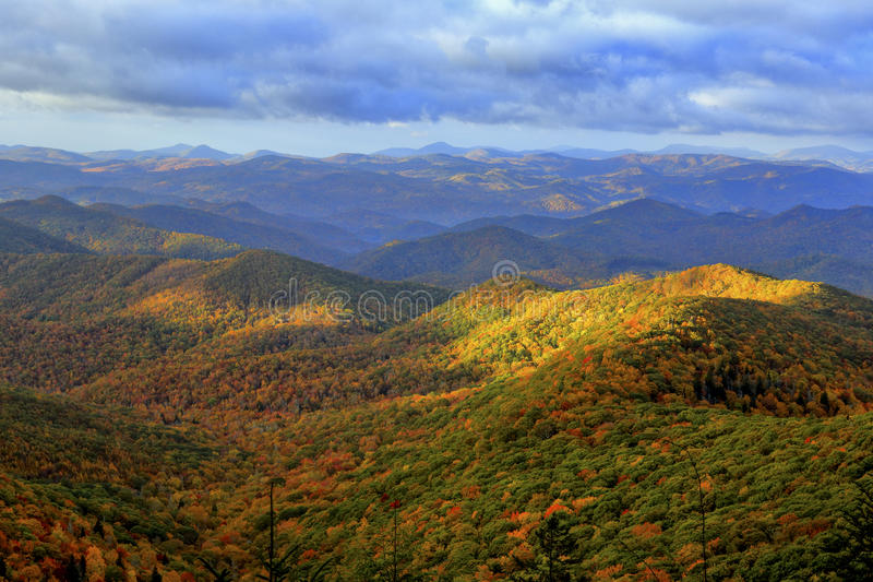 Blue Ridge Mountains in Autumn stock photo