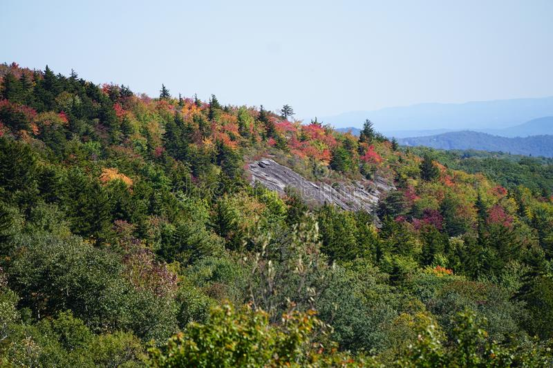 Blue Ridge mountains Fall Color stock photography