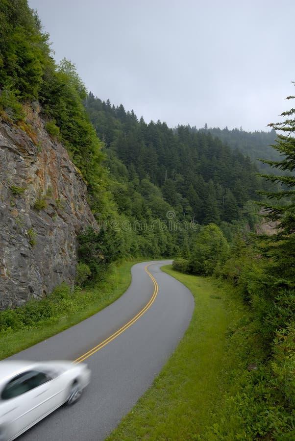 Blue Ridge Mountains Parkway Curve royalty free stock photo