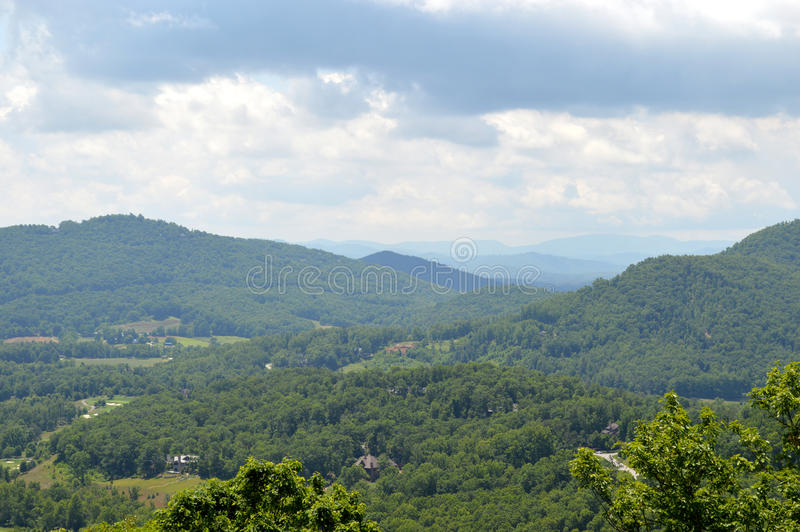 Blue Ridge Mountains view royalty free stock photo