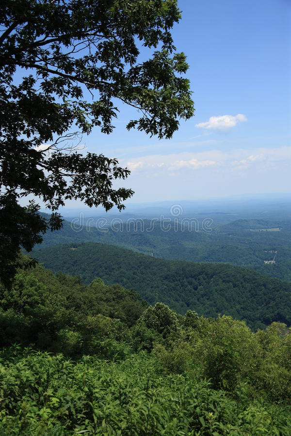 Blue Ridge Mountains - Virginia. Summertime view from scenic Blue Ridge Parkway stock photos