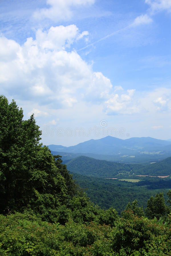 Blue Ridge Mountains - Virginia. Summertime view from scenic Blue Ridge Parkway royalty free stock images