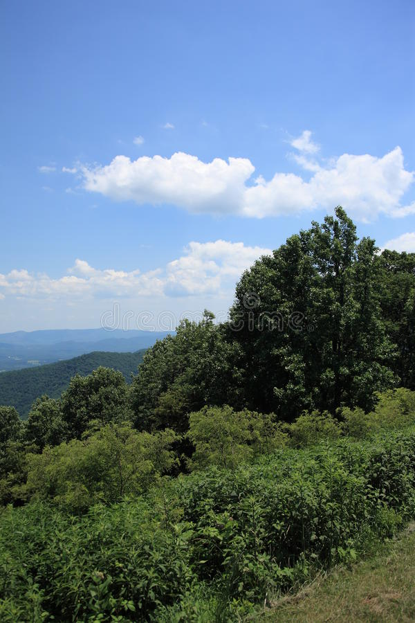 Blue Ridge Mountains - Virginia. Summertime view from scenic Blue Ridge Parkway stock image