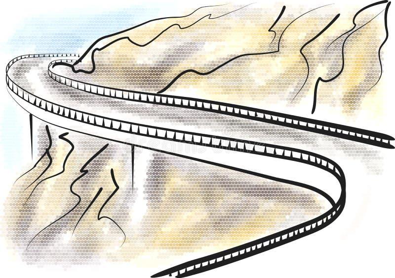 Blue Ridge Parkway vector illustration