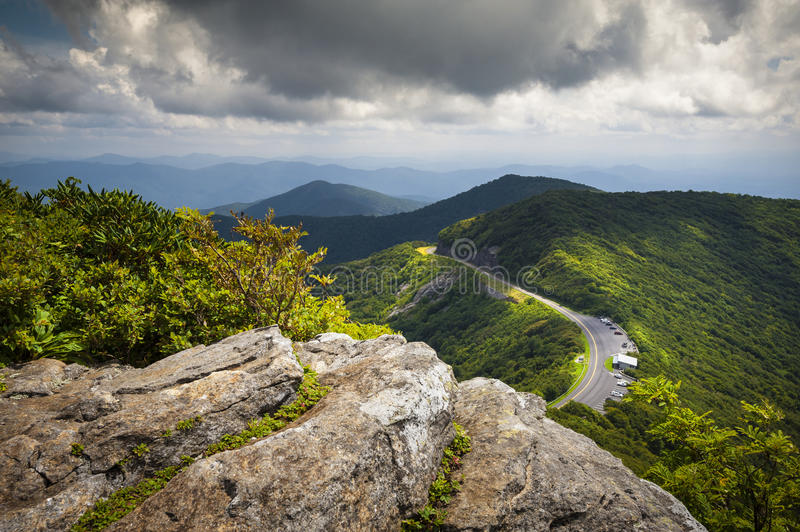 Blue Ridge Parkway Craggy Gardens Scenic Mountains stock photos