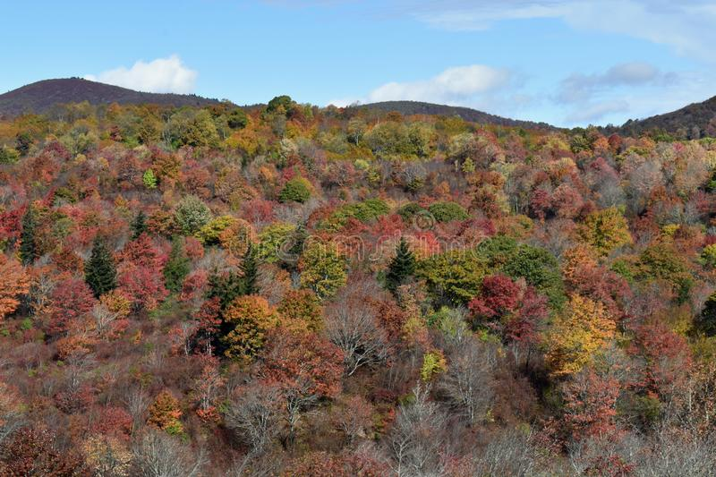 Blue Ridge Parkway in the Fall USA stock photography