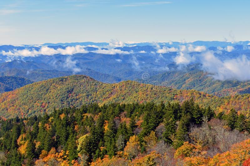 Blue Ridge Parkway in the Fall USA stock photos