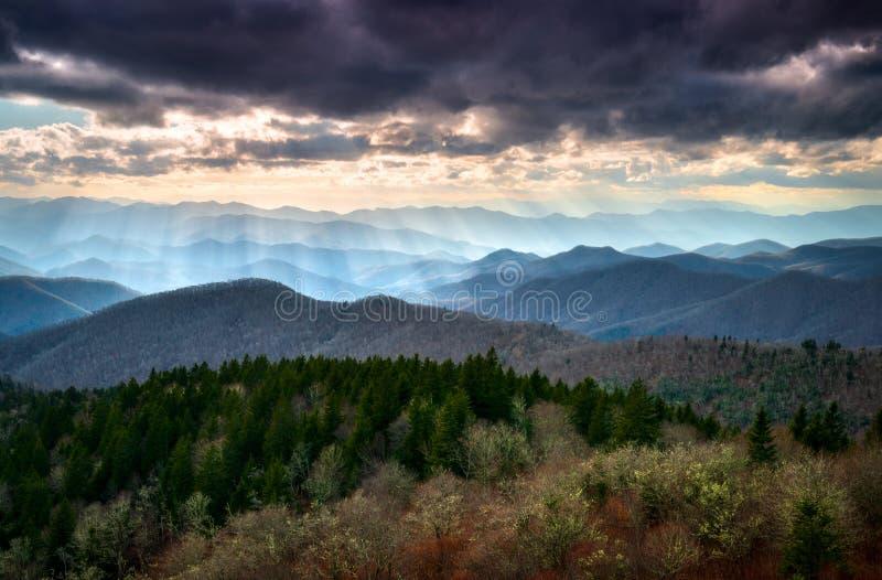 Blue Ridge Parkway North Carolina Scenic Mountain Landscape Photography stock images