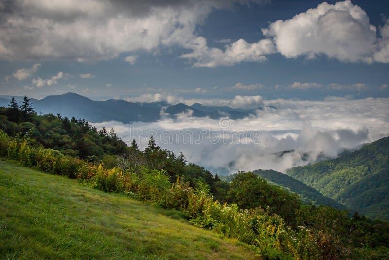 Blue Ridge Parkway in North Carolina royalty free stock photography
