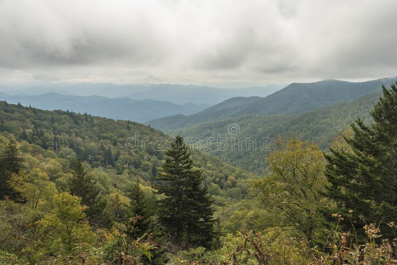 Blue Ridge Parkway. An overlook in the Blue Ridge Parkway, North Carolina, United States stock images