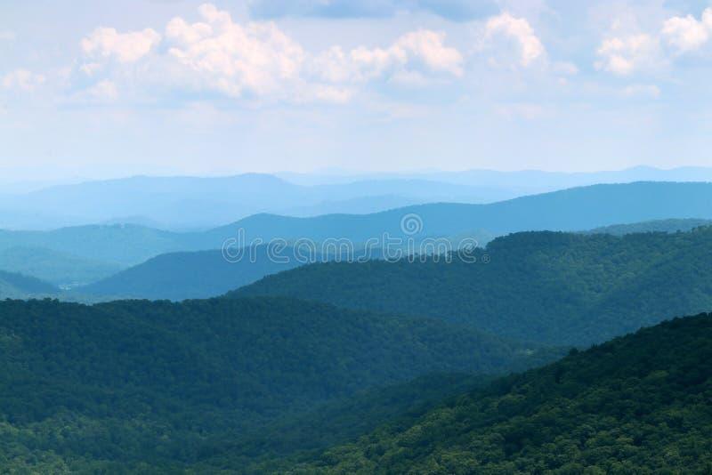 Blue Ridge Parkway scenic view. royalty free stock photo