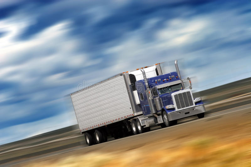 Download Blue Rig stock photo. Image of freight, hauling, tilt - 19249214