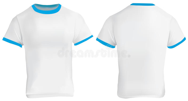 Ringer T Shirt Template Stock Vector Illustration Of