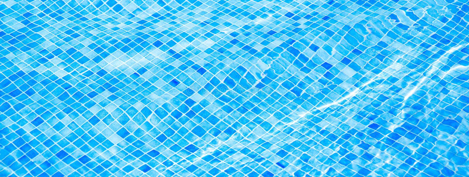 Blue ripped water in swimming pool Summer vacation Banner stock photography
