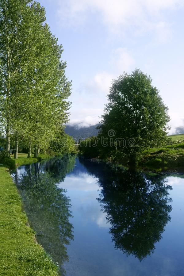 Download Blue River Reflexion In A Forest Stock Image - Image: 11967971