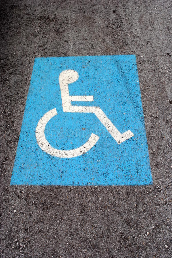 Download Blue Road Marking For Disabled Stock Image - Image of handicapped, road: 26381775
