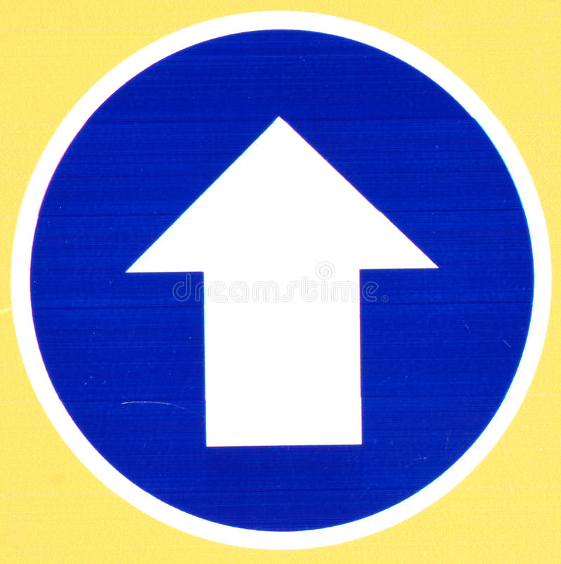 Download Blue Road Sign With Arrow stock photo. Image of direction - 20993774